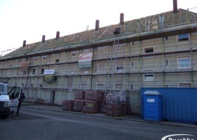 Dachfläche mit neuer Dachlattung