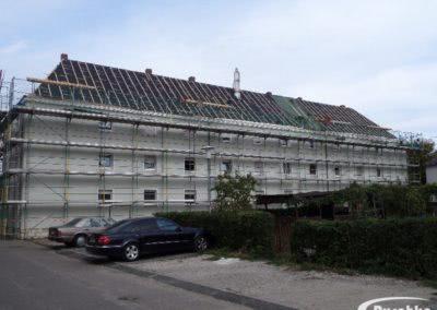 Dachfläche nach dem Abriß des Altdaches