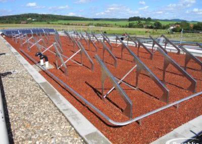 Unterkonstruktion für die Photovoltaikanlage am Flachdach