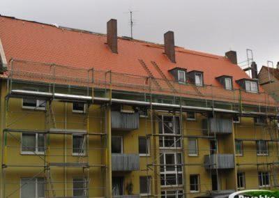Dachfläche mit Biberschwanzziegel eingedeckt