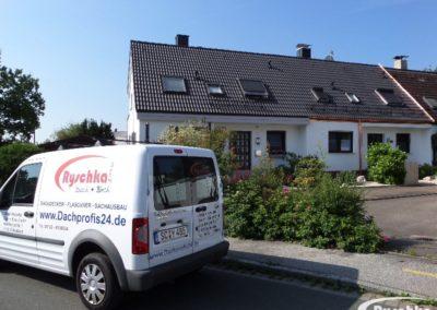 Reihenhausdach nach der Dachsanierung