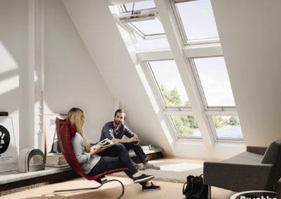 Fenstertausch mit Velux- und Rotofenstern